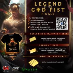 [OASIS Cafe] OASIS Cafe is selling tickets for the Legend of the God Fist Finals hosted by Riot Games happening this Saturday