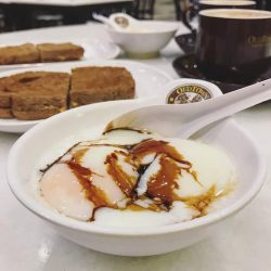 [OLDTOWN White Coffee Singapore] A bowlful of Omega soft boiled eggs, some crunchy bites of Kaya Butter toast and a steaming cup of hot