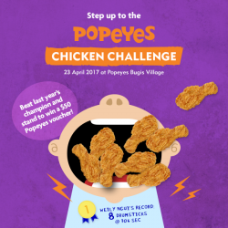 [Popeyes Louisiana Kitchen Singapore] Our Popeyes Chicken Challenge is back, since it's our 8th anniversary!