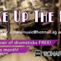 [Sonare Music School] One more promotion to sum up our April deals: Your first pair of drumsticks if FREE, if you sign up