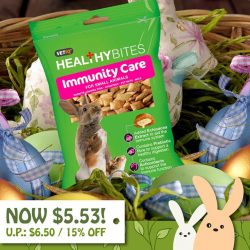 [Pet Lovers Centre Singapore] Vetiq Healthy Bites for small animals are made of a delicious crispy cereal shell with a creamy filling, packed with