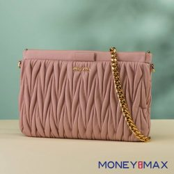 [MONEYMAX] The perfect bag for your weekend getaway, this Miu Miu crossbody keeps your hands free while you roam around running