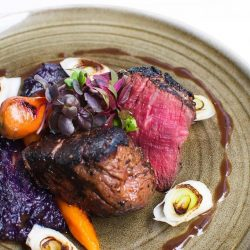 [The Marmalade Pantry] Our Filet Mignon of tamarind-marinated beef tenderloin medallion served with purple potato mash and merlot jus is part of
