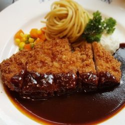 [Ma Maison Restaurant Singapore] Today's Daily Lunch at Ma Maison at Bugis Junction02-51 is Miso Katsu Comes with Soup, Mini Salad, Bread