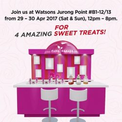 [Watsons Singapore] More sweet treats awaits you at our Pure Beauty Urban Shield Pop-up Beauty Bar at Watsons Jurong Point B1-