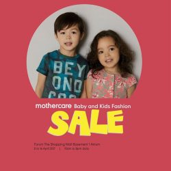 [Mothercare] Grab good bargains at our Mothercare Baby & Kids Fashion Sale at the Forum The Shopping Mall B1 atrium and Mothercare