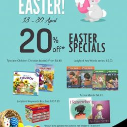[MPH] Easter Promotion 20% off selected titles from Tyndale Ladybird series Active MInds From 13-30 April 2017 Term and condition