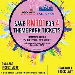 [CAUSEWAY LINK BY HANDAL INDAH] Dear Valued Customer,Save RM101 for 4 theme park tickets!