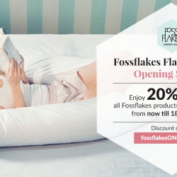 [King Koil Singapore] Celebrate the grand opening of Fossflakes online store with exclusive 20% OFF all Fossflakes products and enjoy FREE shipping from