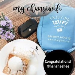 [Changi Recommends] MY CHANGIWIFI FLATLAY Congratulations @hahaheehee!