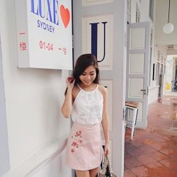 [Purpur] Last 30mins to the end of 50% SALE: Ya'll should never miss out this pretty embroidered skirt: http://www.