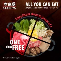 [SUKI-YA] Gather your family and friends for this exciting promotion!