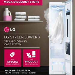 [Mega Discount Store] More than just a steam closet, the LG Styler clothing care system is designed to refresh clothes without water or