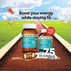 [Watsons Singapore] Blackmores Odourless Fish Oil Minis provide the same strength of omega-3s as a standard fish oil but in a