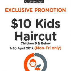 [EC House Express Cut] We will be extending our exclusive promotion of $10 Kids Haircut at Compass One outlet till 30 April 2017, Monday