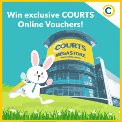 [Courts] It's the last day for you to win exclusive COURTS Online Vouchers with our egg-citing Easter eggs!