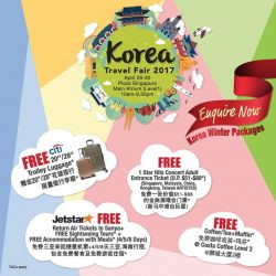 [ASA Holidays] Come on down and find us at The Korea Travel Fair at Plaza Singapura for the widest variety, best deals