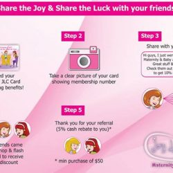 [JOY LUCK CLUB MATERNITY & BABY] JLC Membership card -  the only card that allow you to Save and Earn $$ at the same time!