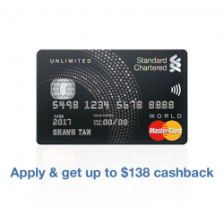 [Standard Chartered Bank] Score unlimited cashback and unlimited appetite with the new Unlimited Cashback Credit Card.