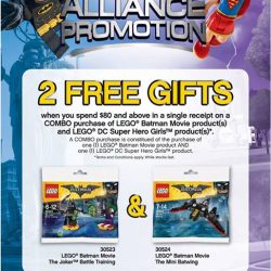 [Bricks World (LEGO Exclusive)] LEGO® Super Hero Alliance PromotionGet 2 FREE GIFTS when you spend $80 and above in a single receipt on