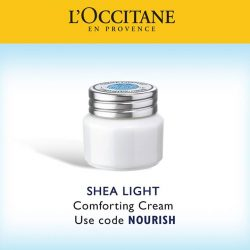 [L'Occitane] Receive a complimentary Shea Light Comforting Cream 8ml when you spend $60 and above online!
