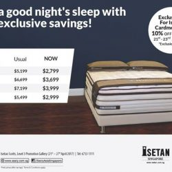 [Isetan] Enjoy a good night's sleep with these exclusive savings from Sealy!