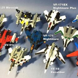 [My Little Brick Shop] Pre-order for: (LEFT) Macross Plus YF-19 Excalibur - $46.