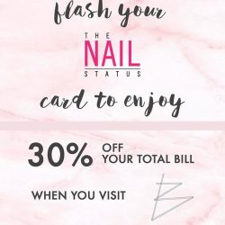 [The Nail Status] Flash your TNS privilege card at @bespokehairstudio to enjoy 30% off hair services !
