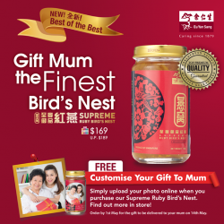 [Eu Yan Sang] Buying Bird's Nest for Mother's Day but find the regular bottle a tad nondescript?
