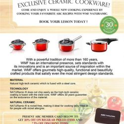 [ABC Cooking Studio] Starting from 7th April 2017 onwards, WMF will be the exclusive ceramic cookware in our studio!