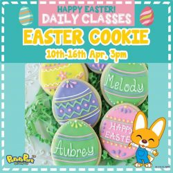 [Pornro Park Singapore] We are offering Easter Cookie decorating classes for the upcoming week (10th April to 16th April)!