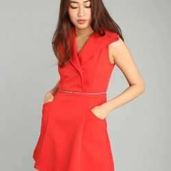 """[MOSS] Red for Happiness❤️Shop """" DELISA DRESS IN RED """" @http://www."""
