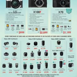[FUJIFILM] Presenting April promotion, from 1-30 Apr'17X-A3 Kit Additional giveaway of NPW126 BatteryX-A10 Kit Additional