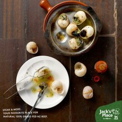 [Jack's Place] FUN FACT: Did you know escargot is rich in iron, vitamin E, and magnesium?