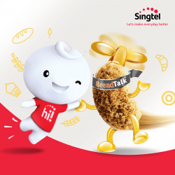 [Singtel] FREE $3 BreadTalk voucher when you top up BigHot$130 or $50 top up to your Prepaid hi!
