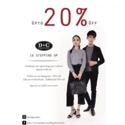 [Design & Comfort] Visit D&C this Labour Day weekend and enjoy up to 20% off your total purchase just by following us