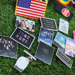 [THE LITTLE BADGE STORE] Is it some of your fav Handsome hot KPOP band stickers ?