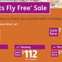Jetstar: Parents Fly FREE Sale with 2-to-Go Fares from just $70!