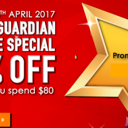 Guardian: 2-Day Online Special Coupon Code for Additional 10% OFF