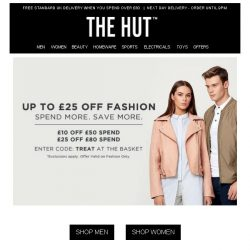 [The Hut] Last Chance   25% off Fashion & Outdoor