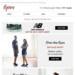 [6pm] New Balance up to 60% off + Yoga and more on sale!