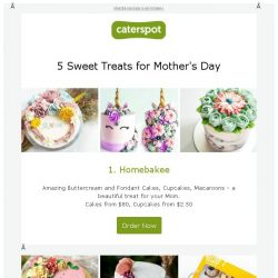 [CaterSpot] 5 Sweet Treats for Mother's Day