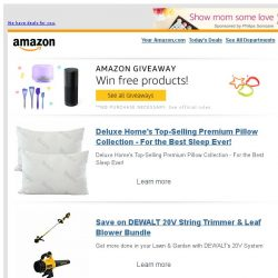 [Amazon] Deluxe Home's Top-Selling Premium Pillow Collec...