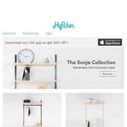 [HipVan] Messy bedroom no more with our new Sonja collection!