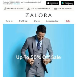 [Zalora] Limited Time Only: Up To 50% Off High-street Favourites!