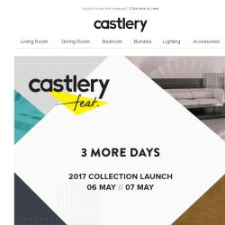 [Castlery] 3 DAYS LEFT TO RSVP… just sayin'
