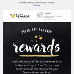 [Starbucks] All Stars lead to Rewards
