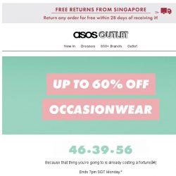 [ASOS] Up to 60% off, whatever the occasion