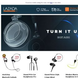 [Lazada] Turn It Up With Great Audio!