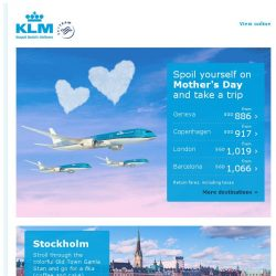 [KLM] Take a trip to celebrate Mother's Day!